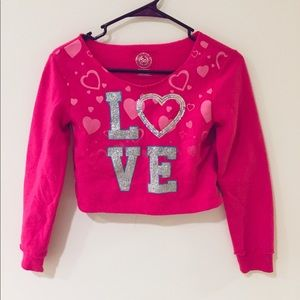 SO Shirts & Tops - Children's LOVE crop top